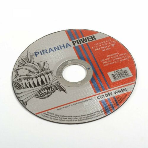 "Pirahna Power 200pcs  Cut-Off Wheel 4-1//2/"" X 1//32/"" X 7//8/"""