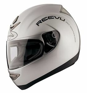 Reevu Rear View MSX1 Motorcycle Helmet Metallic Silver