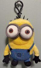 "Despicable Me Kevin Plush Minion Bag Clip 6.5"" with zip up space EUC"