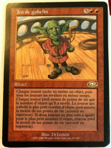 Goblin Game Red Sorcery Mint French Language MTG Planeshift