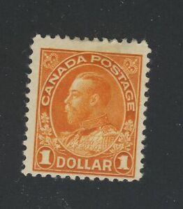 Canada-Admiral-MH-Stamp-126b-1-00-Deep-Orange-wet-printing-Fine-GV-160-00