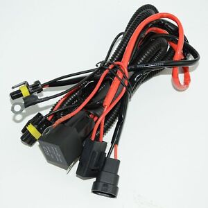 Xenon Conversion Kit HID Relay Wiring Harness 9006 HB4 9005 ... on
