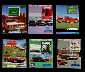 Details about 6 x Triumph Parts Catalogues - Rimmer Bros-  Stag-TR6-Herald-Spitfire-Sprint +