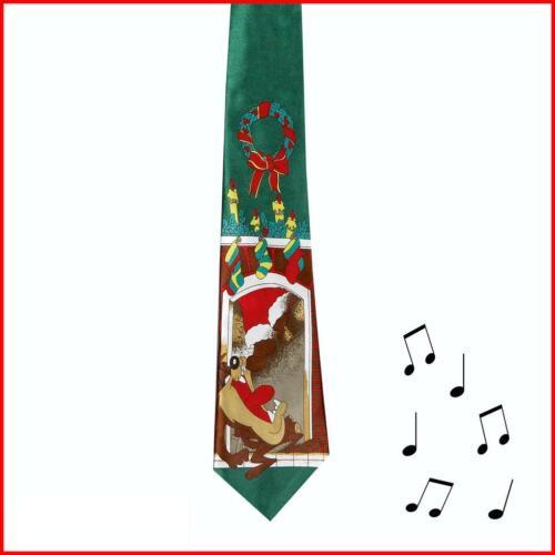 Plays Jingle Bells Musical Tie Christmas Choose Design Novelty