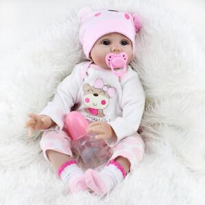 22'' Reborn Baby Dolls Lifelike Vinyl Silicone Newborn Girl Handmade Xmas Gift 705169422457
