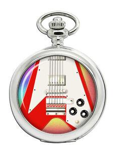 Flying-V-Guitar-Pocket-Watch