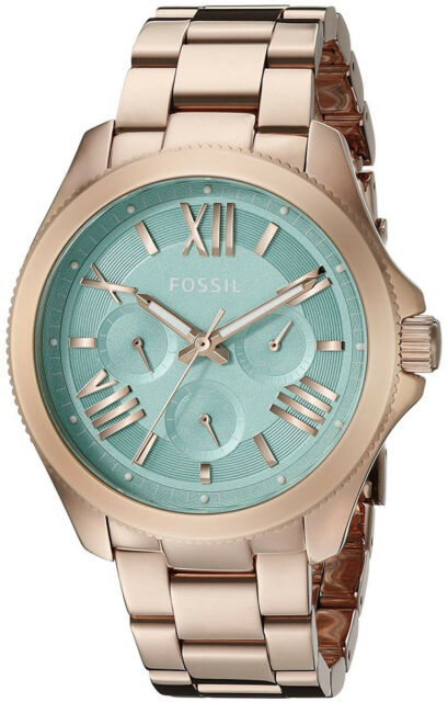 5bad7ac0a81d Fossil AM4540 Cecile Green Dial Rose Gold Stainless Multifunction Women s  Watch