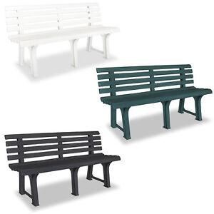 Image Is Loading Vidaxl Garden Bench 145 5x49x74 Cm Plastic Outdoor