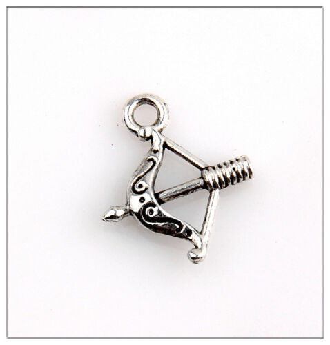 100 Bow/&arrow Tibetan Silver Charms Pendants Jewelry Making Findings EIF0175