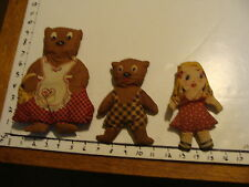 goldie locks and the three bears stuffed animals, VINTAGE AND OLD missing dad