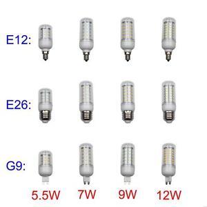 E12 E26 G9 110v Led Corn Light Bulb Lamp 5w 7w 9w 12w Warm