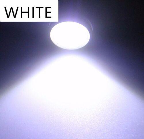 2pc white LED Boat Light Waterproof 12v Deck Storage Kayak Bow Trailer Bass Wake