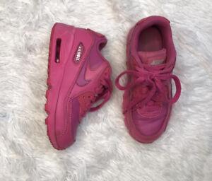 Nike-Air-Max-90-Toddler-Girls-Shoes-Size-11C-833377-603-Laser-Fuchsia-Pink-EUC