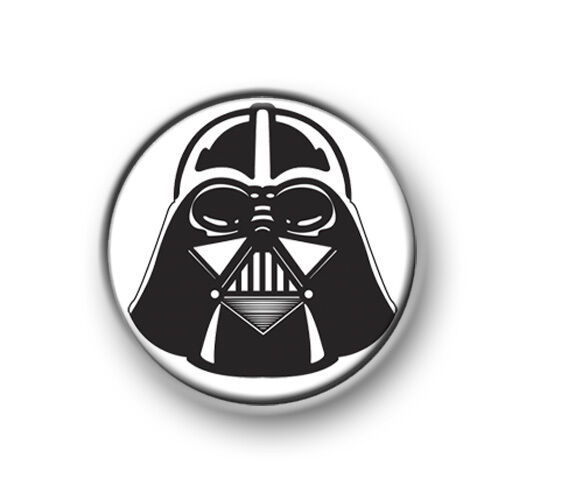 "DARTH VADER / 1"" / 25mm pin button / badge / Star Wars / The Force / Jedi / Sith"