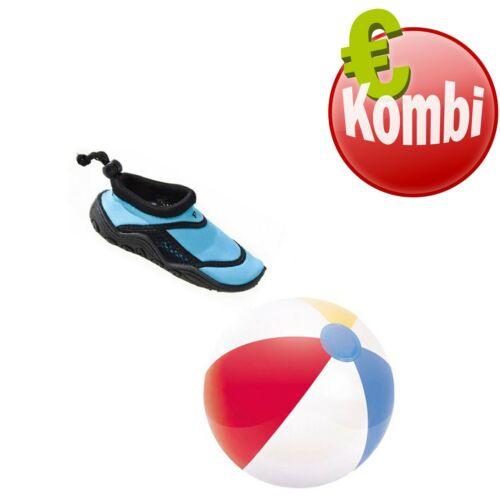 Beco Kombi Surfschuh Badeschuh Schuh Beachball Wasserball für Kinder türkis