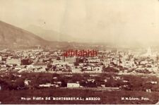 RPPC VISTA DE MONTERREY, N.L., MEXICO M M Lopez, Foto 1941