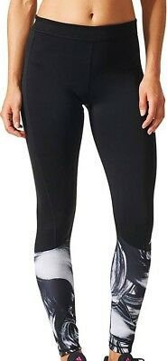 Initiative Adidas Techfit Print Womens Long Training Tights - Black Elegant Im Geruch
