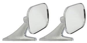 Motamec-Classic-Car-10-Side-Door-Wing-Mirror-x2-Chrome-Steel-Square