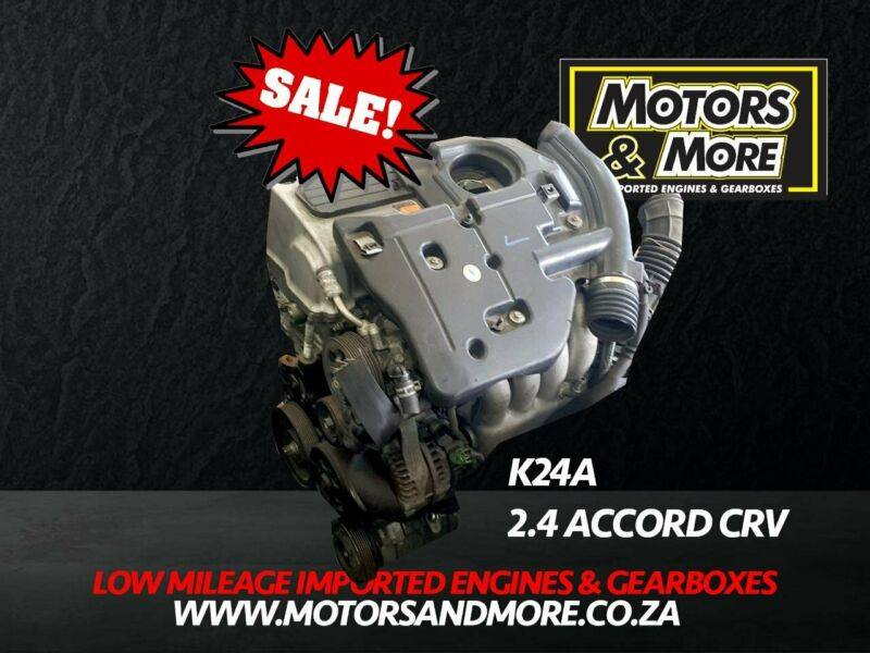 Honda Accord K24A 2.4 Engine For Sale No Trade in Needed