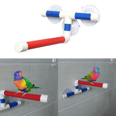 Parrot Bath Shower Standing Platform Rack Perch Wall Suction Cup Pet Toy Parrots