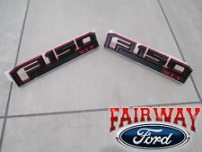 15 thru 17 F-150 OEM Ford Special Edition RED Fender Emblem Nameplate Set XLT