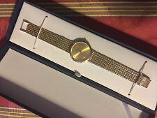 14k Solid Yellow Gold Men's Euro Geneve Watch Unworn, Light scratch on case back