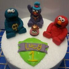 Handmade Furchester Hotel edible cake topper *personalised* Elmo Cookie monster