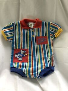 Vintage Cuties by Judy  baby girl/'s 6 to 9 months pajamas super soft and adorable with teddy bears silly bear tricks