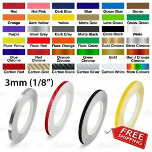 "SILVER GREY 3mm 1//8/"" Roll Pin Stripe PinStriping Line Tape Vinyl Car STICKER"