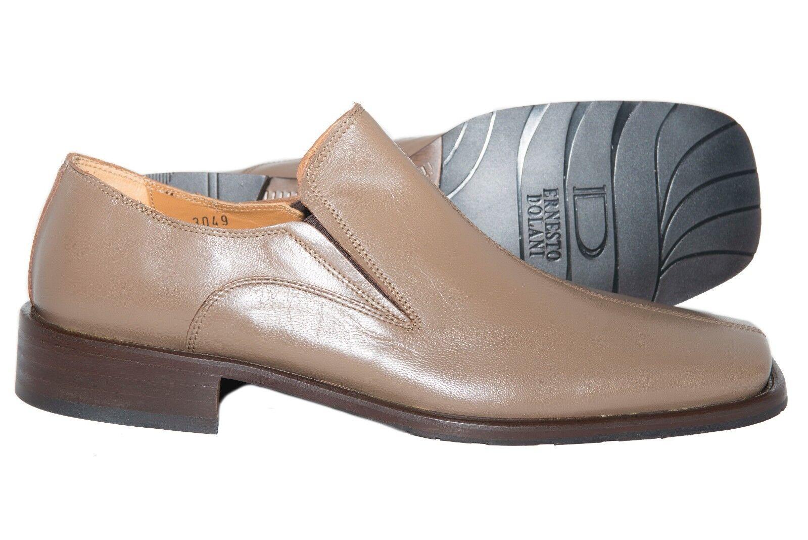 Ernesto Dollani A _48 Italian  mens taupe cuoio slip sulle scarpe  disegni esclusivi