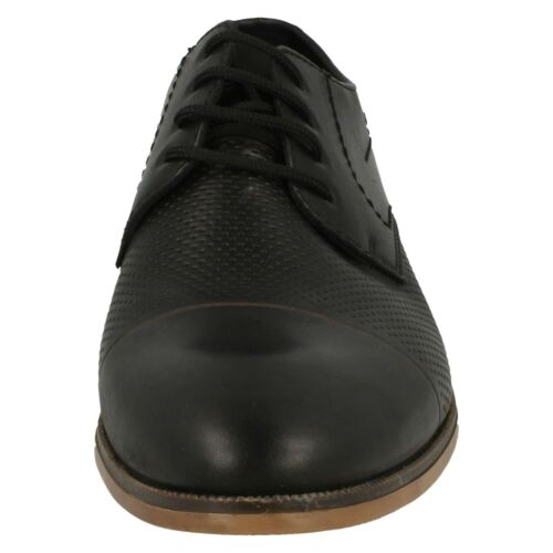Mens Rieker 11615 Black Leather Smart Casual Lace Up Shoes