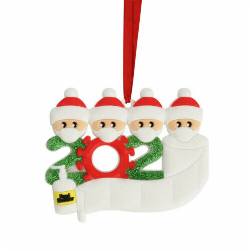 Diy Personalized 2020 Christmas Ornament Christmas Hanging Ornaments Family Gift