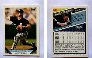 Bobby-Thigpen-Signed-1993-Topps-645-Card-Chicago-White-Sox-Auto-Autograph