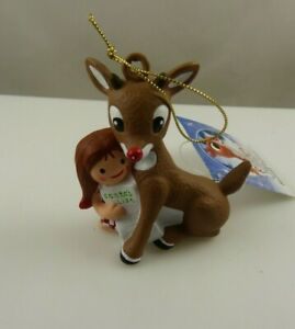 Rudolph the red nosed reindeer with dolly Kurt S. Adler Christmas ornament
