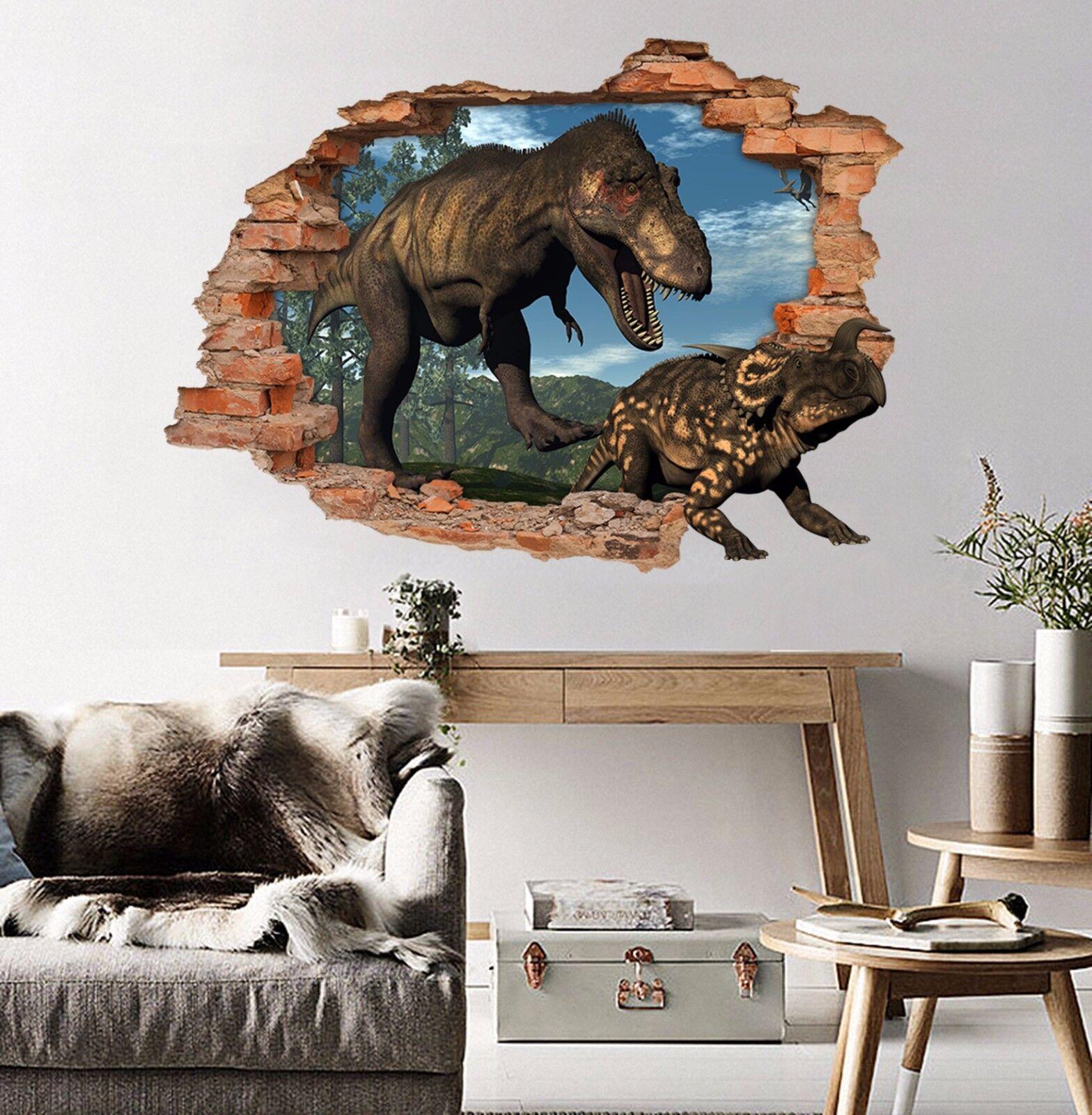 3D Dinosaurier 641 Mauer Murals Aufklebe Decal Durchbruch AJ WALLPAPER DE Kyra