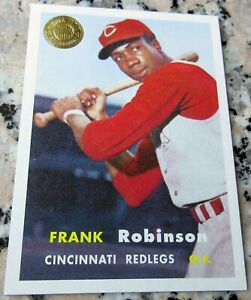 FRANK-ROBINSON-2003-Topps-GOLD-Rookie-Card-RC-1957-Style-2-WS-Rings-HOF-R-I-P
