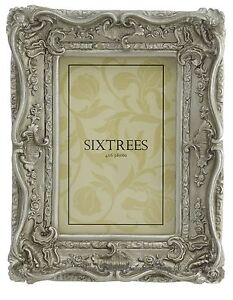 Shabby-amp-Chic-Vintage-Very-Ornate-Antique-Silver-Photo-frame-for-a-6-034-x4-034-Picture