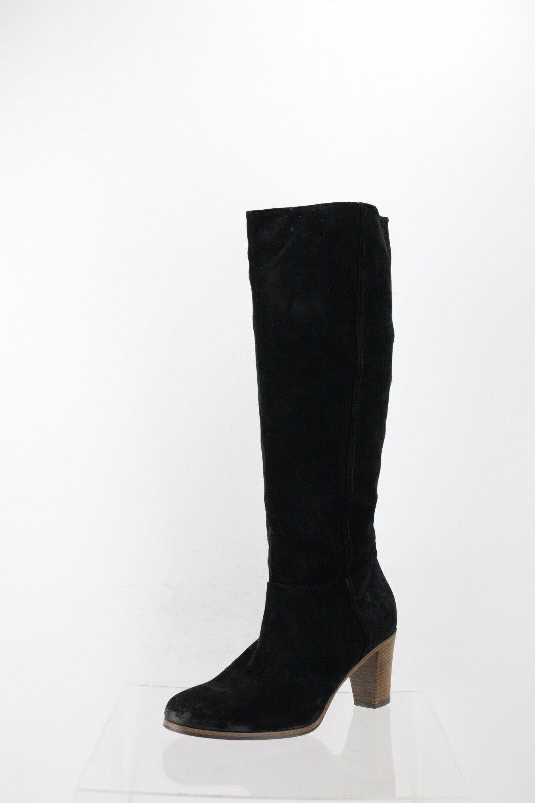 Alberto Fermani Loreo Black Suede Knee High Boot Women's Shoes Sz 39 NEW RTL$575