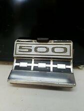 1963 Ford Galaxie 500 Fuel Gas Door Emblem Vintage Original Trim