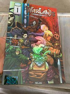 Image-Comics-Warlands-1-Comic-Book-NM-Armor-Chrome-Cover-Wraparound-Variant