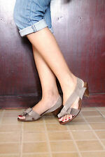 FABIO RUSCONI sling-back elastic-band italian sandals, size7