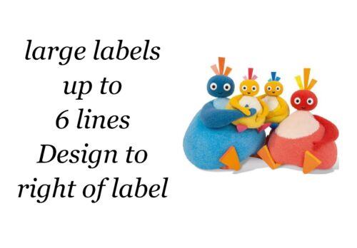 24 caracteres mixtos twirlywoos grandes Etiquetas Adhesivas Pegatinas de Papel Blanco Nuevo