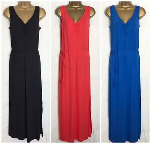 M-amp-S-Stretch-Jersey-Sleeveless-Holiday-Slip-Maxi-Dress-3-Colours-ms-282rt