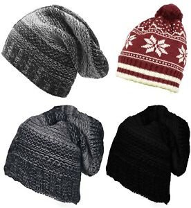 6ad9b3be7ad Men Women Beanie Hat Winter Oversized Star Warm Fashion Ski ...