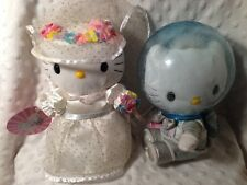 Hello Kitty in Wedding Dress and Dear Daniel in Astronaut Outfit McDonalds Plush