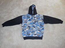 Royal Blue Mens Blue Camo Winter Coat Jacket Hooded Hoodie 2XL