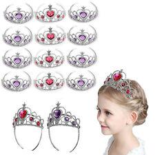 Dazzling Toys Pink and Purple Jeweled Kids Princess Tiara-Crowns Set of 12