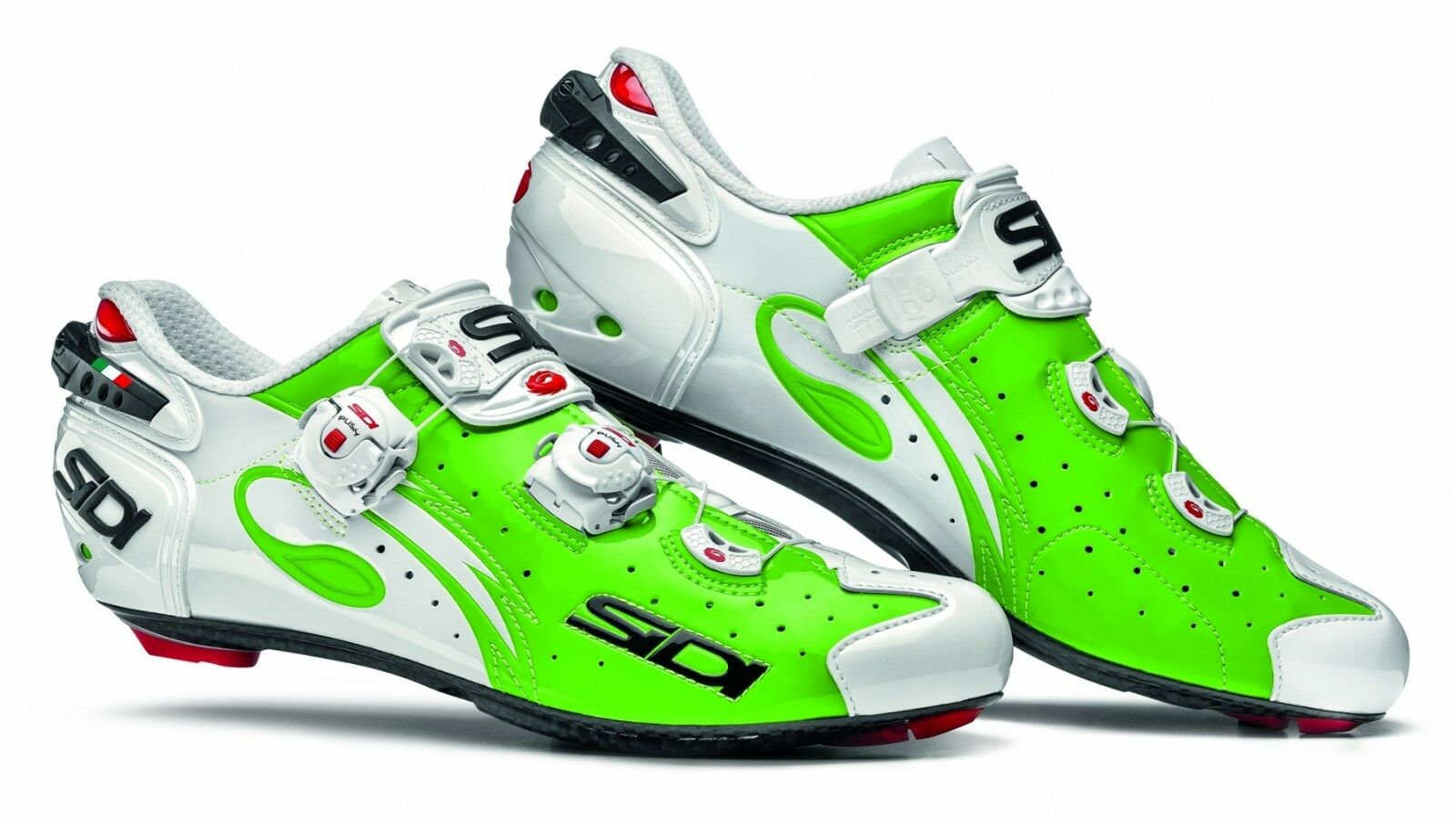SIDI  Wire Carbon Road Cycling shoes - Green Fluo White  all in high quality and low price