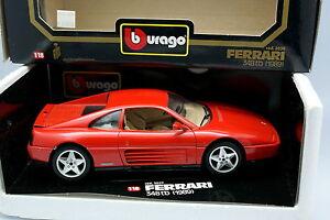 Burago-1-18-Ferrari-348-TB-Rouge-1989