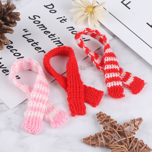 3Pcs 1//12 1//6 Dollhouse Miniature Christmas Scarf Dollhouse Accessories Deco/>